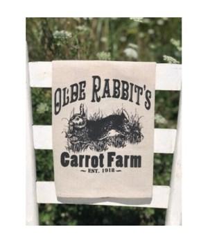 Olde Rabbit's Tea Towel 24 in.x16