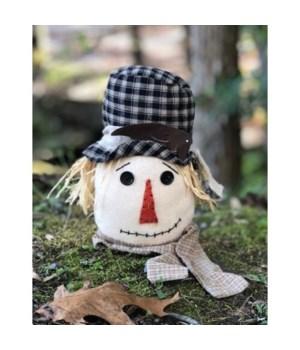 Bl Plaid Hat Scarecrow Head Lg