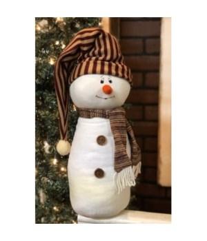 Stripe Toboggan Hat Snowman