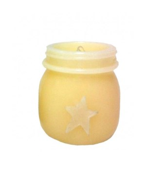 The Keeping Jar LED Cream 3.5 in.