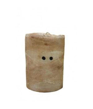 Mummy LED Pillar w/Timer 4 in