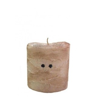 Mummy LED Pillar w/Timer 3in