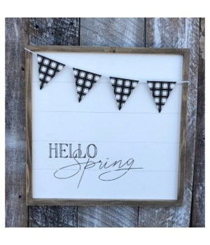 Hello Spring 16 in. x 16 in.