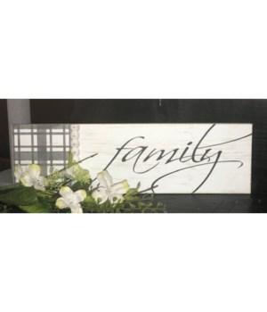 Family Sign 4.75 in. x 16 in.