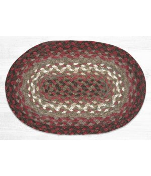 """MS-785 Taupe/Rose/Burgundy Oval Swatch 10""""x15"""""""