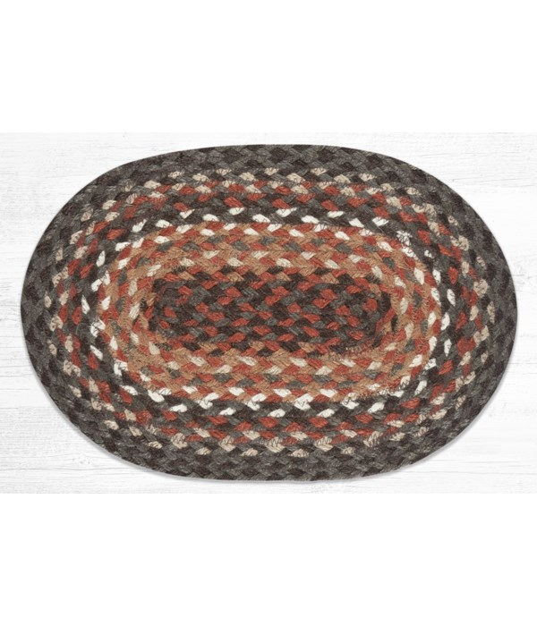 """MS-787 Dark Brown/Taupe/Terracotta Oval Swatch 10""""x15"""""""