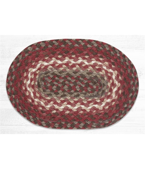 """MS-789 Taupe/Chestnut/Chili Pepper Oval Swatch 10""""x15"""""""