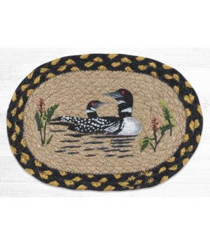 OMSP-43 Loon Printed Oval Swatch 7.5 in.x11 in.