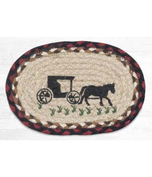 OMSP-319 Amish Buggy Printed Oval Swatch 7.5 in.x11 in.