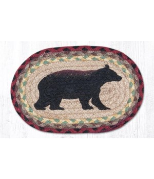 """OMSP-395 Cabin Bear Printed Oval Swatch 7.5""""x11"""""""