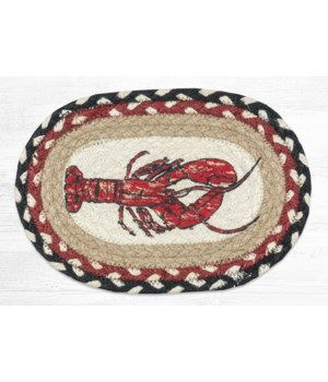OMSP-430 Fresh Lobster Printed Oval Swatch 7.5 in.x11 in.