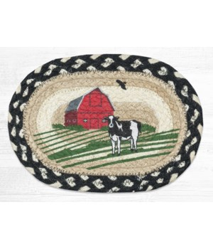 OMSP-430 Red Barn Printed Oval Swatch 7.5 in.x11 in.