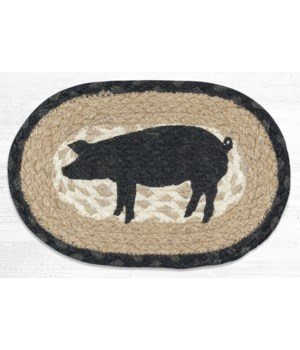 OMSP-459 Pig Silhouette Printed Oval Swatch 7.5 in.x11 in.