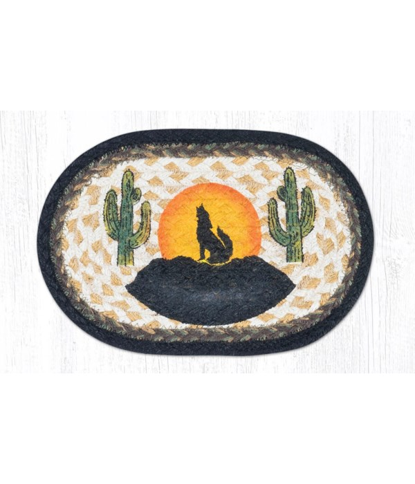 """OMSP-469 Howling Coyote Printed Oval Swatch 7.5""""x11"""""""