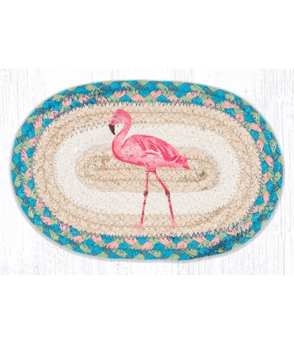 """OMSP-586 Pink Flamingo Printed Oval Swatch 7.5""""x11"""""""