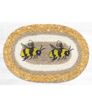OMSP-9-101 Bee Printed Oval Swatch 7.5 in.x11 in.