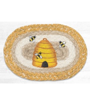 OMSP-9-101 Beehive Printed Oval Swatch 7.5 in.x11 in.