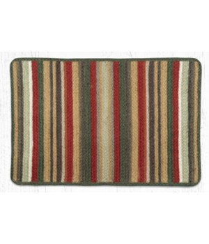 VR-300 Terracotta/Cactus Oblong Braided Rug 20 in.x30 in.
