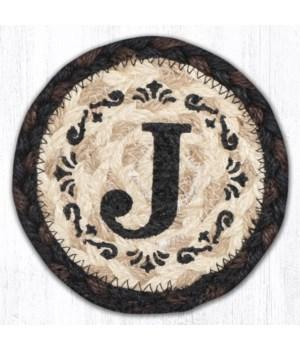 "IC-313 J Monogram Printed Coaster 5""x5"""