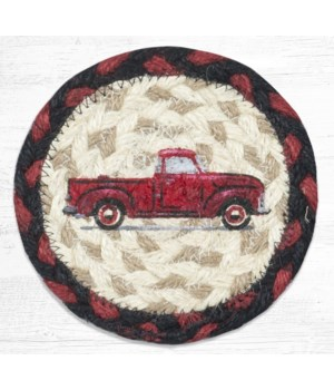 IC-19 Vintage Red Truck Printed Coaster 5 in.x5 in.