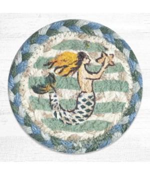 IC-245 Mermaid Printed Coaster 5 in.x5 in.