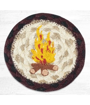IC-395 Campfire Printed Coaster 5 in.x5 in.