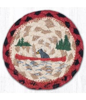 "IC-396 Bears in Canoe Printed Coaster 5""x5"""