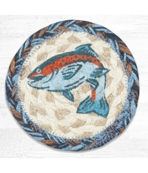 IC-443 Blue Fish Printed Coaster 5 in.x5 in.