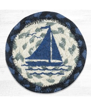IC-443 Sailboat Printed Coaster 5 in.x5 in.
