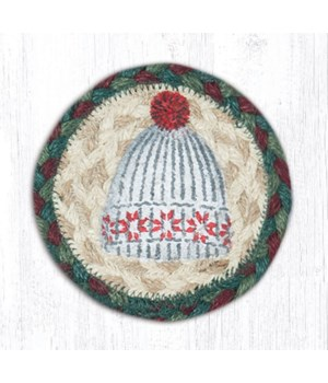 "IC-508 Winter Hat Printed Coaster 5""x5"""