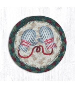 "IC-508 Winter Mittens Printed Coaster 5""x5"""