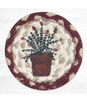IC-524 Thyme Printed Coaster 5 in.x5 in.