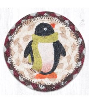 "IC-587 Penguin Printed Coaster 5""x5"""