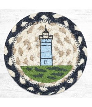 IC-619 Nubble Lighthouse Printed Coaster 5 in.x5 in.
