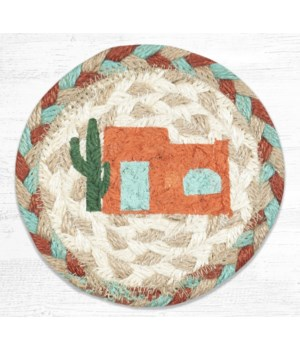 IC-782 Adobe Home Printed Coaster 5 in.x5 in.