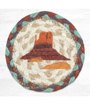 IC-782 Butte Printed Coaster 5 in.x5 in.