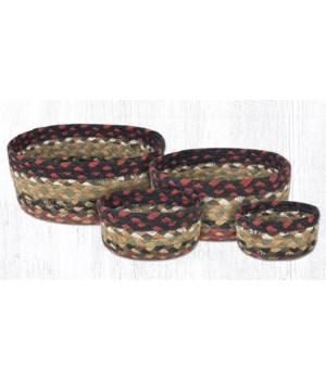 CB-19 Burgundy/Mustard Casserole Baskets Set of 4