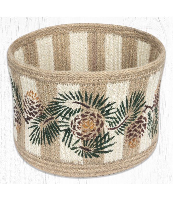 RNB-01 Pinecone Natural Rope Braided Basket 9 in.x7 in.