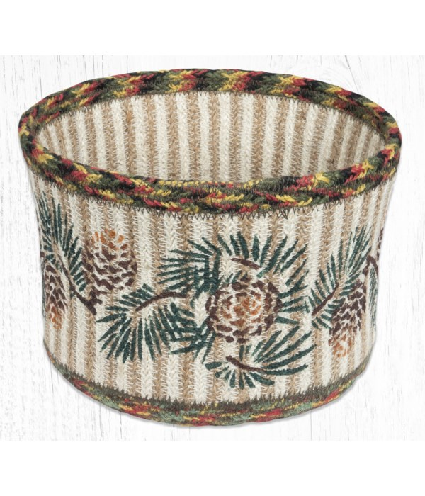 RNB-81 Pinecone Natural Rope Braided Basket 9 in.x7 in.