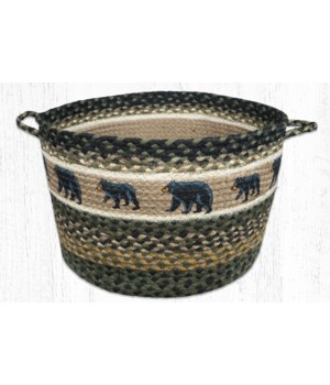 UBP-116 Mama and Baby Bear Printed Utility Basket 17 in.x11 in.