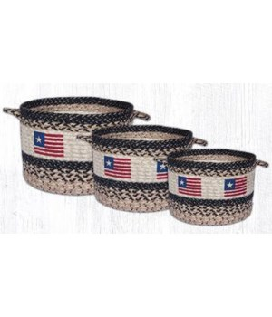 UBP 9-1032 Original Flag Printed Utility Basket 9 in.x7 in.x0.17 in.