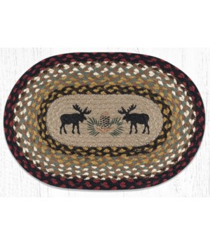 """PM-OP-19 Black Moose Oval Placemat 13""""x19"""""""