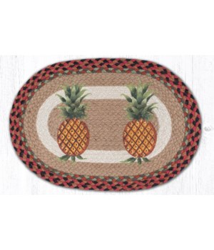 """PM-OP-375 Pineapple Oval Placemat 13""""x19"""""""