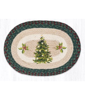PM-OP-508 Christmas Joy Tree Oval Placemat 13 in.x19 in.x0.17 in.
