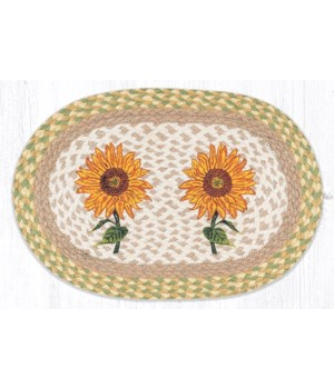 """PM-OP-529 Sunflowers Oval Placemat 13""""x19"""""""