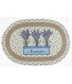 "PM-OP-611 Lavender Oval Placemat 13""x19"""