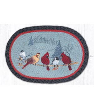 """PM-OP-9-238 Friends Gather Oval Placemat 13""""x19"""""""