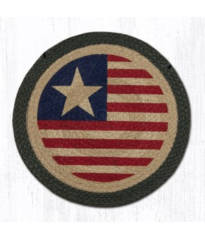 """CH-1032 Original Flag Round Chair Pad 15.5""""x15.5"""""""
