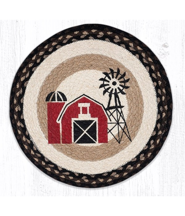 CH-313 Windmill Round Chair Pad 15.5 x 15.5 in.x0.17 in.