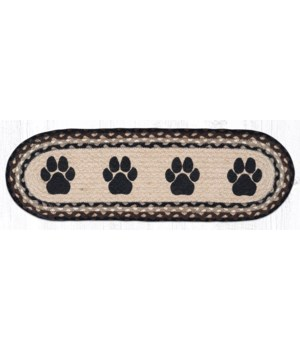 ST-OP-313 Paw Prints Oval Stair Tread 27 in.x8.25 in.x0.17 in.